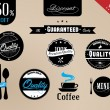 Vintage Styled Label collection design, premium and high quality,Restaurant vintage labels — Stock Vector