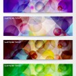Royalty-Free Stock Vector Image: Modern Horizontal Abstract Banner Set
