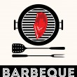 Stock Vector: Vintage BBQ Grill Party, Barbecue