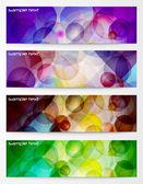 现代水平抽象横幅集 — 图库矢量图片