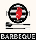 Vintage BBQ Grill Party, Barbecue — Stock Vector