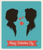 Vintage Happy Valentines Day — Stock Vector