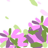Purple flowers on white background — Stock Vector