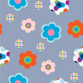 Decorative flowers on gray background — Stock Vector