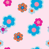 Decorative flowers on pink background — Stock Vector