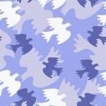 Seamless texture with blue birds — Stock Vector