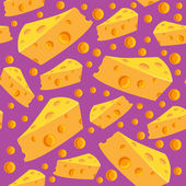 Seamless pattern with cheese and holes — Stock Vector