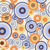 Seamless pattern with colored circles — Stock Vector