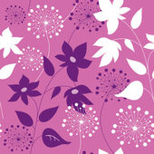 Stylish seamless pattern with flowers — Stock Vector