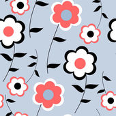 Seamless pattern with red poppies — Stock Vector