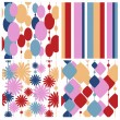 Set seamless festive patterns — Stock Vector
