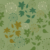 Pattern with wild flowers and herbs — Stock Vector