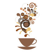 A cup of coffee with flavor — Stock Vector