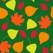 Seamless wallpaper  from autumn leaves — Stock Vector