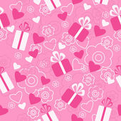 Seamless pattern Valentine's Day — Stockvector