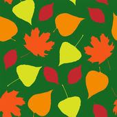 Seamless wallpaper from autumn leaves — Vector de stock