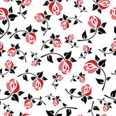 Seamless floral pattern art deco — Stock Vector