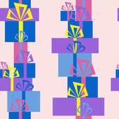 Naadloze patroon van de stapels van geschenken — Stockvector