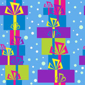 Pattern with gift boxes for Christmas — Stock Vector