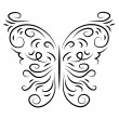 Butterfly isolate stylish decorative graphically — Stock Vector #39545385