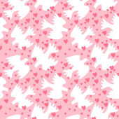Seamless pattern with white sweethearts — Stockvector
