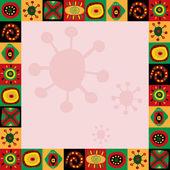 Рамка с абстрактным рисунком в африканском стиле — Cтоковый вектор
