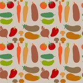 无缝模式与不同的蔬菜 — 图库矢量图片