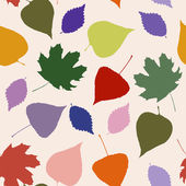 Floral seamless pattern with autumn leaves — Stok Vektör