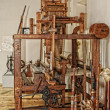 Stock Photo: Jacquard loom