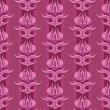 Pink Floral Seamless Pattern — Vector de stock #18852299