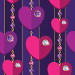 Wektor stockowy : Seamless backgroud with hearts and diamonds