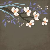 Spring blossom branch — Stock Vector