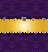 Amethyst jewelry card — Stock Vector