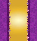 Amethist jewelry card2 — Stock Vector