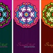 The set of banners with oriental element decorate design — Stock Vector