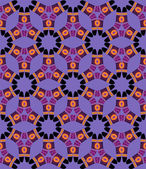 Boomerang Seamless Pattern on violet background — Stock Vector
