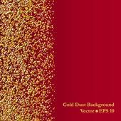 Gold dust vector background — Stock Vector