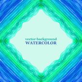 Watercolor aqua background. Vector illustration. — Stock Vector