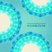 Watercolor aqua circle background. Vector illustration. — Stock Vector