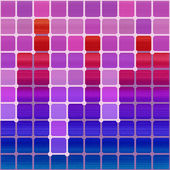 Projeto quadrado colorido abstrato na base de aquarela. vector illus — Vetorial Stock