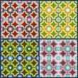 The set of abstract geometric seamless patterns. — Stock Vector #26820203