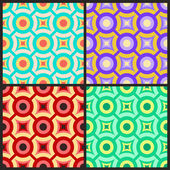 The set of abstract geometric seamless patterns. — Stock Vector