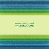 Blue and green watercolor background. Vector illustration. — Stockvektor