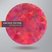 Abstract Vector Grunge Round banner. — Stock Vector