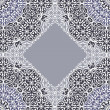 Lace ornament, white ornamental doily pattern. — Vector de stock