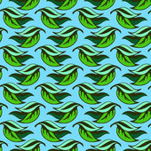 Seamless pattern with leaves. — Stock Vector