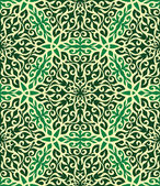 Green and yellow abstract hand-drawn seamless pattern. — Stock Vector