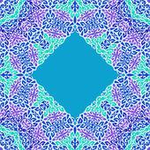 Lace oriental ornament card, ornamental pattern. — Stock Vector