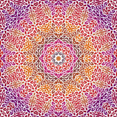 Lace Oosterse ornament, versiering patroon. — Stockvector