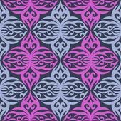 粉色和灰色抽象手绘无缝模式. — 图库矢量图片